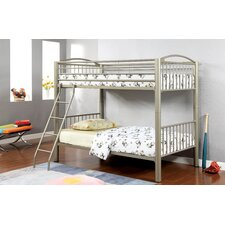 Kostemia Twin Over Twin Bunk Bed with Ladder