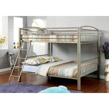 Kostemia Full Over Full Bunk Bed with Ladder