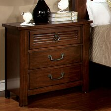 Tobias 3 Drawer Nightstand