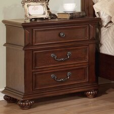 Lorrenzia 3 Drawer Nightstand