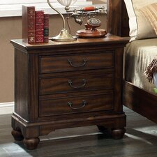 Cheyenne 3 Drawer Nightstand