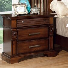 Montana 3 Drawer Nightstand