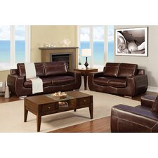 Elvira Leatherette Sofa and Loveseat Set
