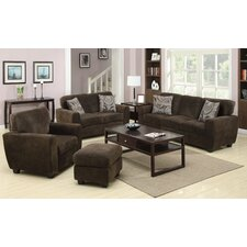 Flannelette Padded Sofa Set