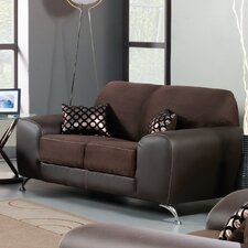 Sona Leatherette Loveseat