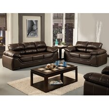Velasco Leatherette Sofa and Loveseat Set