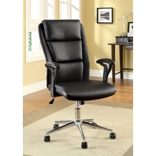 <strong>Hokku Designs</strong> Ravi High-Back Leatherette Office Chair with Arms
