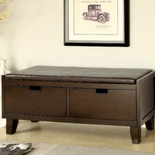 Executive Leatherette Storage Entryway Bench