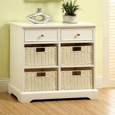 Garth Basket Cabinet with 2 Drawers
