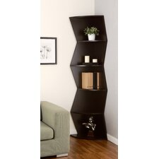 Lavena 5 Shelf Corner Bookcase