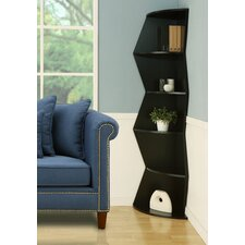 Aspen 5 Shelf Corner Bookcase