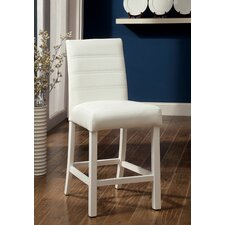 Lanbruner Padded Leatherette Counter Stool (Set of 2)