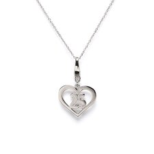 Sterling Silver 25 Year and Heart Charm