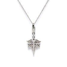 Sterling Silver RN Nurse'S Symbol Charm