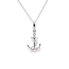 <strong>EZ Charms</strong> 1.1 Grams Sterling Silver Large Anchor with Rope Charm