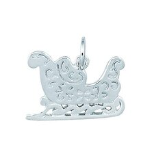 Sterling Silver Holiday Sleigh Charm
