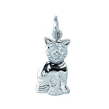 <strong>EZ Charms</strong> Sterling Silver Flat Sitting Cat Charm