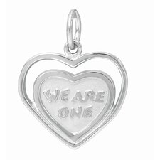 1.5 Grams Sterling Silver 'We Are One' Heart Charm