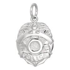 2.9 Grams Sterling Silver Police Badge Charm