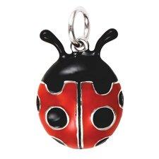 Sterling Silver Enamel Ladybug Charm