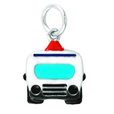 Sterling Silver Enamel Emergency Vehicle Charm