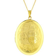 Oval Shaped Locket in Gold