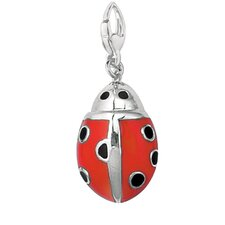 Sterling Silver Enamel Lady Bug Charm