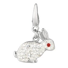 Crystal Rabbit Charm with Swarovski Elements