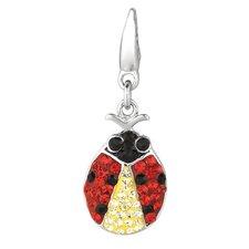Crystal Ladybug Charm with Swarovski Elements