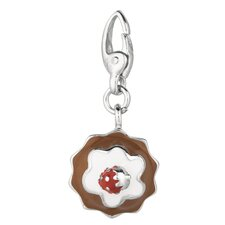 Sterling Silver Strawberry Shortcake Charm