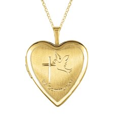 """Dove"" Heart Locket Necklace"
