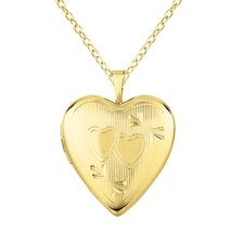 Heart-Shaped Two-heart Locket Necklace