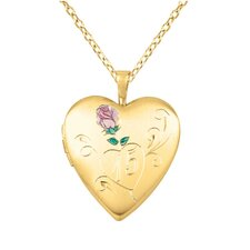 "Rose ""15"" Heart Locket Necklace"