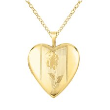 Heart-Shaped Rose Locket