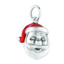Sterling Silver Santa Head Charm