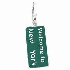 Sterling Silver Welcome To New York Charm