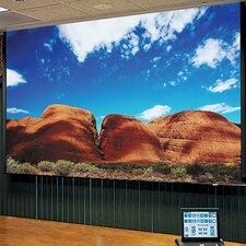 Access Series E Clear Sound White Weave Electric Projection Screen with Low Voltage Motor