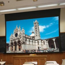 Access XL Series V Pearl White Electric Projection Screen with Low Voltage Motor