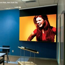 Luma with AutoReturn Pearl White Electric Projection Screen