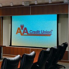 Access Series V Grey Electric Projection Screen with Low Voltage and Quiet Motor