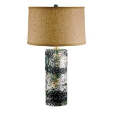 "Bark 30"" H Table Lamp with Drum Shade"