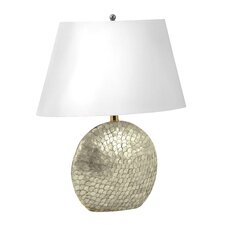"Shell 27"" H Table Lamp with Empire Shade"