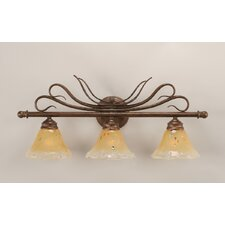 <strong>Toltec Lighting</strong> Swan 3 Light Bathroom Vanity Light