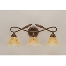 <strong>Toltec Lighting</strong> Leaf 3 Light Bathroom Vanity Light