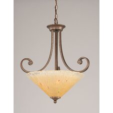 <strong>Toltec Lighting</strong> Curl 3 Light Uplight Inverted Pendant
