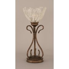 "Swan 16.75"" H Table Lamp with Italian Ice Glass Shade"