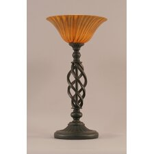 "Elegante 20"" H Table Lamp with Tiger Glass"