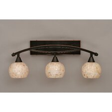 <strong>Toltec Lighting</strong> Bow 3 Light Bath Vanity Light