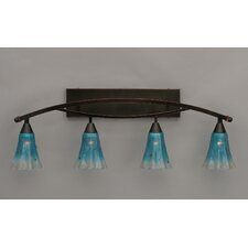 <strong>Toltec Lighting</strong> Bow 4 Light Bath Bar