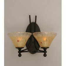 <strong>Toltec Lighting</strong> Capri 2 Light Vanity Light